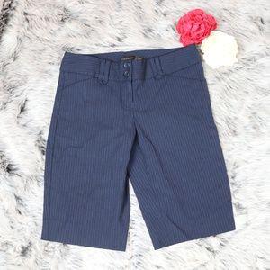 The Limited Pinstripe Bermuda Shorts Sz 0